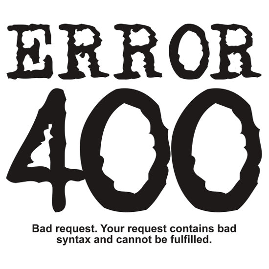 خطای HTTP Error 400 - Bad Request
